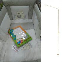 Johny's Bears grey ΣΕΤ προίκας κρεβατιού 6 τεμαχίων + μεταλλική βάση κουνουπιέρας