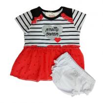 Funky Φορεματάκι Φουφουλίτσα Heart Ριγέ -060120