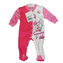 Pretty baby Φορμάκι Ροζ/Λευκό με τύπωμα κουνελάκι -35713