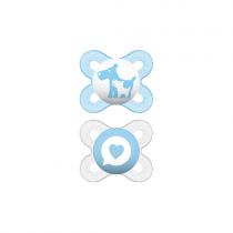 Mam Start Σιλικόνης Μπλε-Διάφανο 0-2m 2τμχ-125S