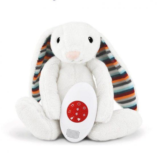 Zazu Bibi Λαγουδάκι Λούτρινο με λευκούς ήχους και χτύπους καρδιάς ZA-BIBI-01
