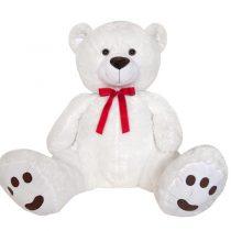 Λούτρινη Αρκούδα Γίγας 130 Εκ. Λευκή (#2854-2)