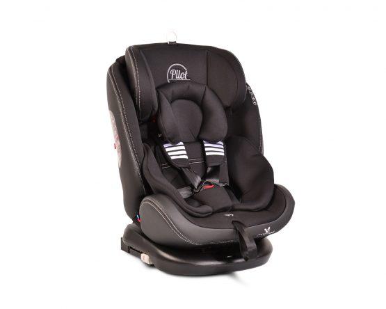 Cangaroo Pilot Black Leather Isofix 360° Περιστρεφόμενο κάθισμα αυτοκινήτου  0-36kg