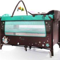 Moni Sleepy Turquoise διώροφο παρκοκρέβατο με αλλαξιέρα και παιχνίδι