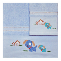 Morven Σετ βρεφικές πετσέτες Μπλέ 2τμχ -610