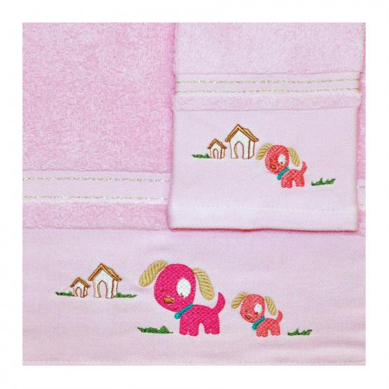 Morven Σετ βρεφικές πετσέτες Ροζ 2τμχ -610
