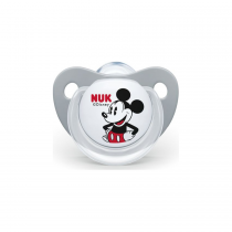 Nuk Disney Mickey Σιλικόνης Grey 0-6m 1τμχ – 730.325