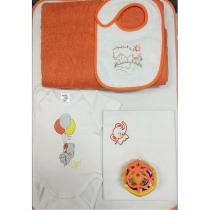 Σετ Elephant Πορτοκαλί Για Νεογέννητο Μωράκι