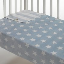 Morven Κουβέρτα Αγκαλιάς Stars Fleece 110×80 Μπλε