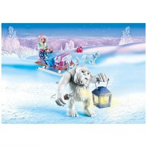 Playmobil Magic: Snow Roll with sledge -9473