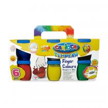Carioca Τέμπερες-Δακτυλοχρώματα 6 Χρωμάτων 130gr.
