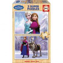 Educa Παζλ 2×25 Disney Frozen Ξύλινο -16162