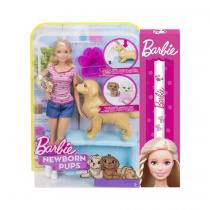 MattelΛαμπάδα Barbie & Νεογέννητα Κουταβάκια FDD43