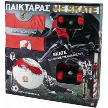 As company Λαμπάδα Παικταράς Κόκκινος με Φανέλα, Μπάλα και Skateboard- (15671)