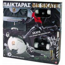As company Λαμπάδα Παικταράς Μαύρος με Φανέλα, Μπάλα και Skateboard- (15674)