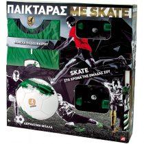 As company Λαμπάδα Παικταράς Πράσινος με Φανέλα, Μπάλα και Skateboard- (15672)
