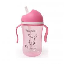 Cangaroo Boo Εκπαιδευτικό Ποτηράκι με Καλαμάκι Pink 300ml -3800146263423