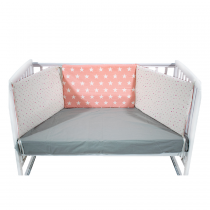 Just Baby Bumber For Bed Pink Stars- 3x(60×40)