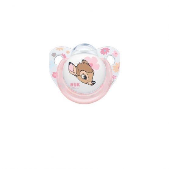 Nuk Trendline Disney Ελαφάκι Σιλικόνης Ροζ 0-6m 1τμχ – 10.730.525