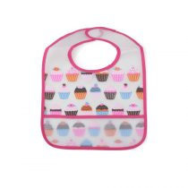 Cangaroo Σαλιάρα Πλαστική Funny Snack Pink-103528