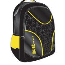 Must Τσάντα Πλάτης με θήκη λάπτοπ Μαυρο-Κίτρινο-0579013