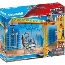 Playmobil City Action Ανυψωτικός Γερανός Βαρέως Τύπου Με Τηλεχειριστήριο Και Σκαλωσιές -70441