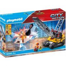 Playmobil City Action Γερανός Κατεδάφισης Με Ερπύστριες Και Δομικά Στοιχεία 70442