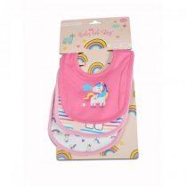 Cangaroo Magic Bib Kay Σετ Σαλιάρες 3τμχ 100% βαμβακερές Pink Unicorn- 3800146265489