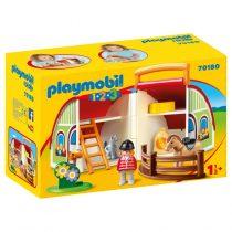 Playmobil 1/2/3: Αχυρώνας-Βαλιτσάκι -70180