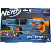 Hasbro Nerf Elite 2.0 Commander Rd-6 Blaster, 12 Official Nerf Darts -E9485