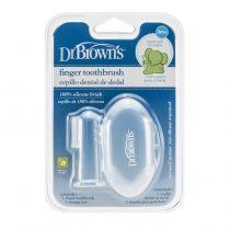 Dr.Brown's Βρεφική δακτυλική οδοντόβουρτσα σιλικόνης -HG 010