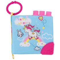Kikkaboo Εκπαιδευτικό Υφασμάτινο Βιβλιαράκι Δραστηριοτήτων με Μασητικό Happy Unicorn Kikkaboo 31201010209