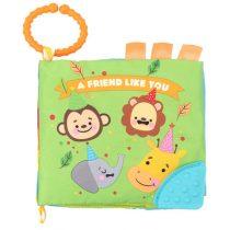 Kikkaboo Εκπαιδευτικό Υφασμάτινο Βιβλιαράκι Δραστηριοτήτων με Μασητικό Friend Like You -31201010210