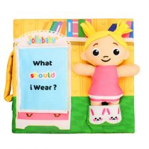 Jollybaby Μαλακό Εκπαιδευτικό Βιβλιαράκι What Should I Wear -8149J