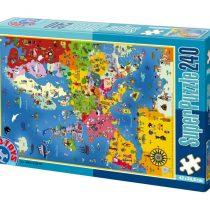 D-Toys Παζλ Χαρτης Ευρώπης -50663MP01