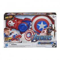 Hasbro Nerf Marvel Avengers Power Moves Role Play Captain America Ασπίδα Και Γάντι -E7375