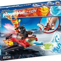 Playmobil Action Firefighter Με Εκτοξευτή Δίσκων -(6834)