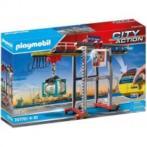 Playmobil City Action – Γερανογέφυρα Φορτοεκφόρτωσης Container- (70770)