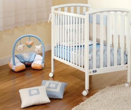 Pali City, χρώμα λευκό βρεφικό κρεβάτι με στρώμα 57cm x 109cm
